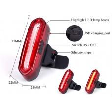 Велофонарь задний с USB зарядкой